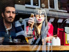 Borrowing the photographer's muse (Street matt) Tags:
