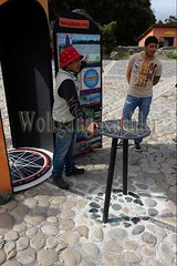 60070657 (wolfgangkaehler) Tags: 2016 southamerica southamerican ecuador ecuadorian quito quitoecuador ecuadorhighlands quitsatoequatormonument cayambe equator equatormarker man explaining lecture lecturer lecturing