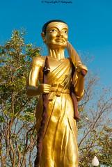 At Big Buddha temple (magicallights) Tags: watphrayaitemple bigbuddha goldenbuddha thailand pattaya wanderlust travel travellog