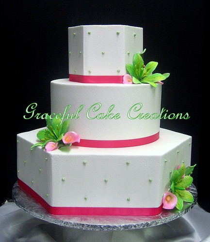 Expensive wedding cakes for the ceremony: Pink and lime green ...