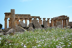 Selinunte : le Temple E (CpaKmoi) Tags: italie italia sicile sicila selinunte templee hera coth coth5