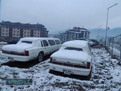 _ / Limousine cars at Bansko village (Nontas K) Tags: winter sky cars clouds december village bulgaria transports limousines bansko   2013          nontask