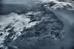 Korean Peninsula, HDR (sjrankin) Tags: haze edited korea hdr iss koreanpeninsula 30may2015 iss043 iss043e256232 iss043e256233 iss043e256234