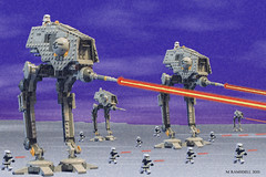 Lego Ground Assault (michaelramsdell1967) Tags: classic photoshop toy toys star starwars lego battle walker empire legos laser wars hoth galactic