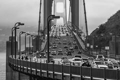 Golden Gate - 2005 (Jos M. Arboleda) Tags: sanfrancisco california bridge blancoynegro canon puente eos 350d jose autopista goldengate carro arboleda 90mm300mm josmarboledac ruby10 ruby15 ruby20