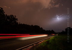Post-flood Lightning (Photography by K. West) Tags: nature weather clouds landscape flooding texas tx lightning storms rainfall floods meteorology bastrop disasters