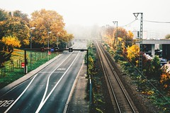 until it feels like i've done something brave (ivvy million) Tags: street city morning autumn urban fall fog germany deutschland vanishingpoint europa europe nebel empty leer herbst tracks mainz morgen gleise rlp rheinlandpfalz schienen rheinmain rhinelandpalatinate strase mayence rheinmaingebiet 18105mm nikond7100 ivvymillion