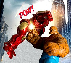 The Thing is not impressed by Hulkbuster (nin2k5) Tags: thing ironman marvel select fantasticfour bengrimm toyphotography hulkbuster