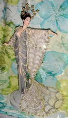 1994 Erte Stardust Porcelain Doll #1 (Deboxed) (2) (Paul BarbieTemptation) Tags: silver gold doll barbie 1994 limited edition porcelain stardust erte