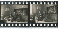 35mm Contact Print Roll In der Heimat 2 (05) (Hans Kerensky) Tags: film 35mm bench paper print found deutschland with lounge 1938 holes photographs german f roll contact lounging agfa 1939 heimat sprocket isopan