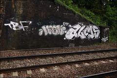Alms (Alex Ellison) Tags: urban graffiti boobs alma railway chrome graff alms trackside ctr tbf pws paintwasters thebufffails cityrollers