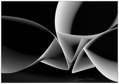 Sacred Geometry (candicemorganphotography) Tags: blackandwhite abstract paper mono triangle fineart gradient brilliant candicemorganphotography