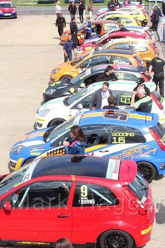 Fiesta Junior Championship at the BRSCC Weekend at Rockingham, May 2016