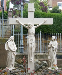 St. Hilda's Catholic Church, Whitby, crucifix (rossendale2016) Tags: england white church statue religious carved catholic christ cross yorkshire religion jesus north icon whitby crucifix marble northyorkshire crucified sthildas