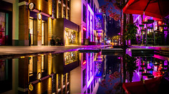 view from the pie shop - Shanghai (Rob-Shanghai) Tags: china food water night lights shanghai eating pano pies refections panyulu