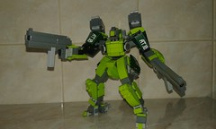 Posing with 80 mm machineguns (frameworks6) Tags: robot military mecha mech