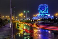 Lights on the night (daniromero135) Tags: architecture landscape photo foto sony paisaje architect fotografia turkmenistan ashgabat arquitectuta rx100m3