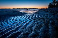 KyeBay052016-3 (lolsson85) Tags: blue sea sky seascape color texture beach nature water sunrise bay coast early quiet bc tide vancouverisland coastal ripples tidal comox kye comoxvalley getolympus