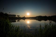 Sonnenaufgang am Ahrbergener Kiesteich (Burr_Brown) Tags: see nikon d750 sonnenaufgang spiegelung f4 1635 harmonie symmetrie ahrbergen