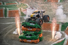 Jumping the impossible - MONSTER JAM MADRID (katalan46) Tags: madrid show light espaa luz car sport monster truck spectacular fun smash jump spain break fireworks destruction smoke free style tires camion american coche deporte salto motor fuego bigfoot sparks aire humo gigante libre fuegosartificiales highspeed monstertruck havai brutal araba tierra circuito divertido monsterjam atleticodemadrid maximum espectaculo chispas espectacular romper gigant altavelocidad bigtires vicentecalderon maximumdestruction canavar destruir gsterisi maxd kamyon fiek aplastar iceshot amaricano maximadestruccion
