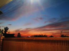 Day 197, a November evening. (Somersaulting Giraffe) Tags: november pakistan sunset evening outdoor garage ngc eveningsky chromatic