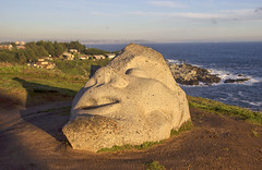 Another face by the sea (Imthearsonist) Tags: islanegra parquedelasesculturas quintaregion chile playa sculpture face bythesea pacificocean art poetry litoraldelospoetas