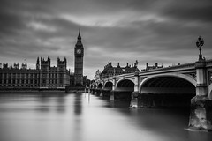 LONDON (Rober1000x) Tags: europa europe summer verano 2016 bridge thames river architecture tower bigben clock time uk england longexposure sky clouds