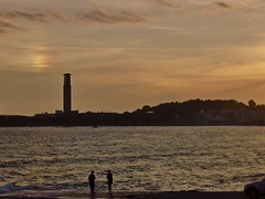 Icebow over La Collette at Sunset (Richard Bougeard) Tags: jersey weather