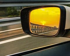 #sunset #sun #car #fast #mirror (Edoardo Schepis) Tags: sunset sun car fast mirror