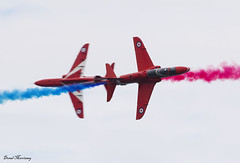 Red Arrows at Portrush (birrlad) Tags: portrush airshow aircraft aviation airplane airplanes flight display flypast flyover flyby aerobatic smoke raf royal airforce hawk t1a redarrows reds
