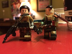 Eric and Taylor revamp (Yappen All Day Long) Tags: shells man eric ar lego knife ak 15 tiny taylor vest vests shotgun pouches bun 47 glock tactical brickarms eclipsegrafx