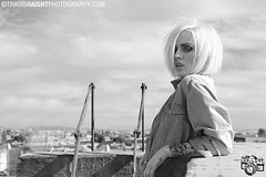 Alysha 11 (TravisHaight) Tags: california portrait blackandwhite bw rooftop fashion tattoo canon la photo losangeles naturallight tattoos haight blonde editorial mk2 5d dslr mkii alysha nett tattooed alyshanett travishaightphotography morganpanter