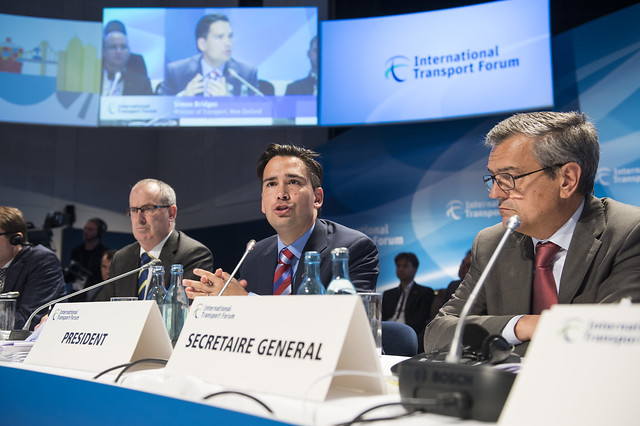 Simon Bridges addressing the Open Ministerial Session