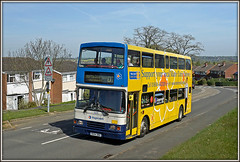 16694 out to play, Admirals Way, 5th of May (Jason 87030) Tags: road charity camera people bus celebrity yellow star volvo outfit amazing northampton flickr view shot tag hill northamptonshire cancer picture scene diamond fave views daffodil vista roadside publictransport population veteran amateur nurses northants stagecoach d2 doubledecker cause mariecurie olympian daventry southbrook boroughhill passnegers admiralsway