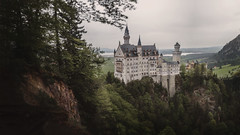 Schloss Neuschwanstein (BenjaminHerbst) Tags: panorama mountains castle castles beautiful germany landscape bavaria 50mm sony olympus om neuschwanstein schloss zuiko postproduction f28 palaces cottages statelyhomes manorhouses a7s