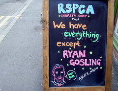 Funny RSPCA sign in Manchester (Tony Worrall Foto) Tags: county city uk england shop manchester words funny stream tour open place northwest unitedkingdom ryan board country north visit location advert area gosling northern update attraction rspca manc gmr welovethenorth