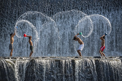 Splish & Splash time ... (zakies) Tags: travel bali holiday water kids indonesia happy islands waterfall asia dam splash unda asean klungkung happines tukad zakiesphotography mohdzakishamsudin nikond750