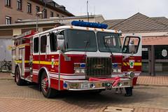 Fire Truck (JBsLightAndShadow) Tags: festival truck spring nikon fair firetruck fireengine heidelberg fest campbell barracks feuerwehr frhling feuerwehrauto frhjahr campbellbarracks d3300