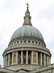 London - Dome of St Pauls Cathedral (David Russell UK) Tags: city travel london church saint st architecture paul cathedral religion pauls dome
