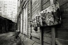 /Mailbox (MZ163) Tags: street bw film monochrome mailbox samara fujiacros leicar4 elmaritr3528