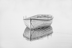 Spirit of Loch Rusky (Andy Magee) Tags: blackandwhite reflection art monochrome canon scotland boat highkey tamron trossachs lochrusky