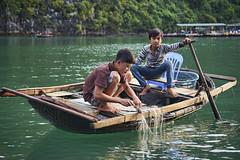 Life On The Emerald Waters (tj.blackwell) Tags: halongbay vietnam seascape ocean sea travel world life scenery beautiful fareast cruise karst geology limestone boat ctb mountains tourism cmph vnn