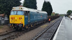 21-05-16 BR Blue 50008 on a goods train at Kidderminster during the Severn Valley Railway Diesel Gala 2016. (Lukas66538) Tags: train railway class goods severn valley 50 svr severnvalleyrailway kidderminster 2016 class50 50008 dieselgala