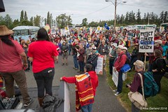 small March start at Indigenous Day Native March Break Free PNW 2016 photo taken by Alex Garland img_2446 (Backbone Campaign) Tags: water justice washington energy kayak break action politics protest creative paddle shell free social demonstration oil change wa environment activism anacortes campaign pnw refinery climatechange climate tesoro artful backbone renewable refineries 2016 kayaktivist kayaktivism breakfreepnw