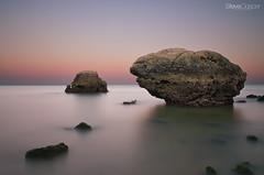 Praia da Oura sunset (Steve Clasper) Tags: longexposure sunset bw holiday portugal algarve 2016 praiadaoura nd110 steveclasper