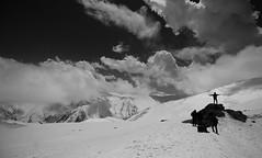 On the top (Debmalya Mukherjee) Tags: blackandwhite snow clouds gulmarg jammuandkashmir 1018mm canon550d debmalyamukherjee