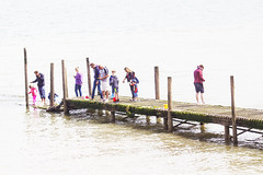 Crabbing on the jetty (Gill Stafford) Tags: family holiday wales fishing jetty resort tripper photograph mage conwy crabbing rhosonsea colwynbay northwales gillys gillstafford