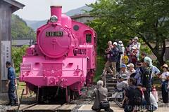 Pink SL at Wakasa Railway (20) (double-h) Tags: sl tottori jnr steamlocomotive c12   eos6d   pinksl wakasarailway  c12 ef100400mmf4556lisiiusm c12167 wakasastation classc12 c12 sl