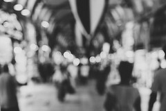 Right in the middle (mripp) Tags: art kunst bokeh abstract abstrakt people shapes black white mono monochrom istanbul fuji xpro2 35mm street strafe urban city stadt unsharp unscharf imagination vorstellung dream dreaming trauma viele many