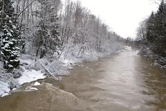 Pitkkoski, River Vantaanjoki (Vantaa, 20120325) (RainoL) Tags: winter snow finland river geotagged march vantaanjoki u vanda fin rapid vantaa 2012 uusimaa pitkkoski 201203 20120325 geo:lat=6026870600 geo:lon=2489811900